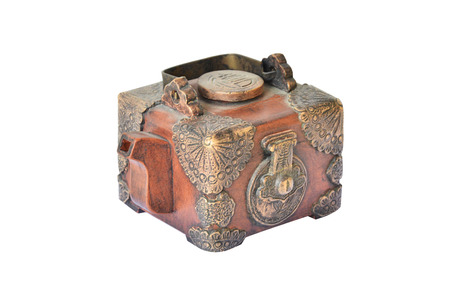Isolate photo of old little Chinese teapot