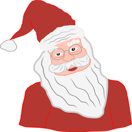 Digital picture of Santa Claus for Merry Christmas