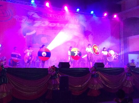 Many children dance show at school annual party