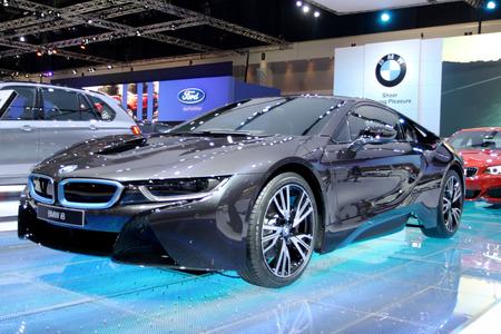 Bangkok - April 2   BMW series I8 innovation car - in display at 35th Bangkok International  Motor Show 2014 on April 2,2014 in Bangkok Thailand