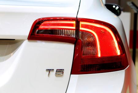 t5: Bangkok - April 2 : brake light of Volvo series S60 T5 - in display at The 36th Bangkok international Motor Show 2015 on April 2, 2015 in Bangkok Thailand Editorial
