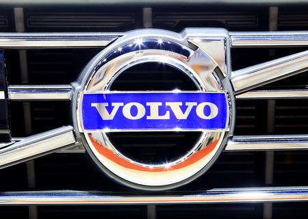 Bangkok - April 2 :logo of Volvo on bumper - in display at The 36th Bangkok international Motor Show 2015 on April 2, 2015 in Bangkok Thailand