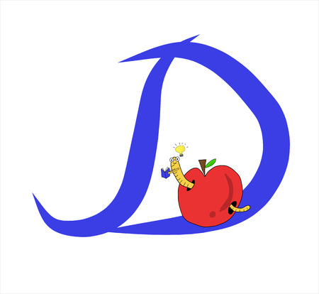 Alphabet for Education. Great for Kids Education. Letter D