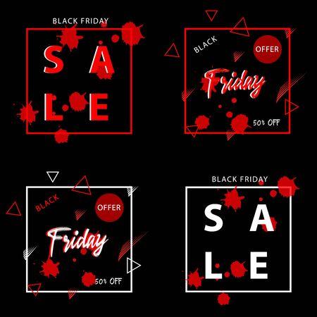 Black Friday sale banner Illusztráció
