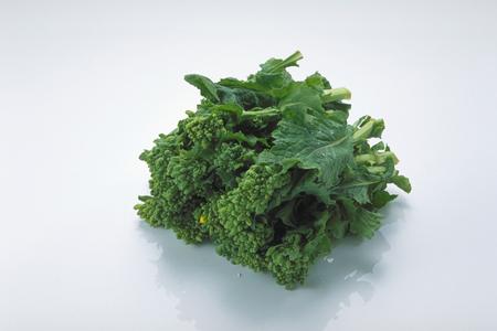 Broccoli Rabe isolated on white background Stock Photo