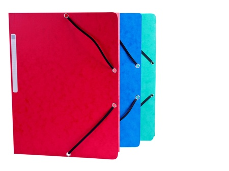 Document Folders different colors on White Background photo