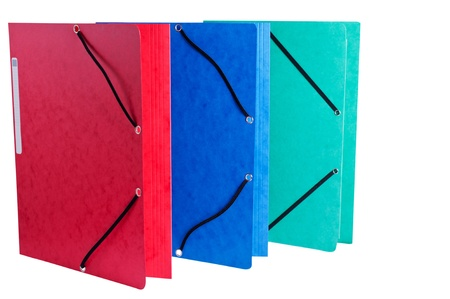 Document Folders on White Background photo