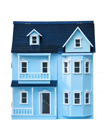 doll house: Isolated doll house Oslo Norway Stock Photo