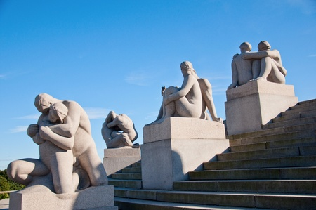 Vigeland Sculpture Park in the Oslo, Norway Editorial