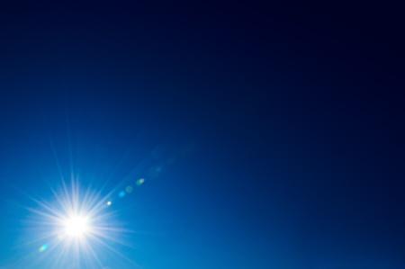 Bright sun on a deep blue sky Stock Photo - 12012429