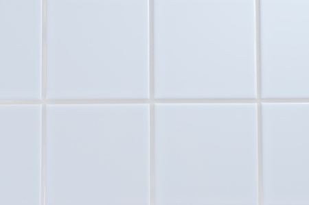 White porcelain tile wall close up background photo