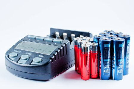 electronic energizer: Charger with batterys