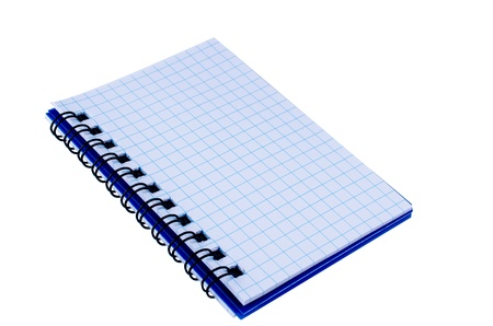 Spiral notepad isolated on white background photo