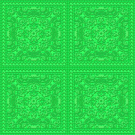 Green ancient tale pattern seamless Stock Photo - 13291533