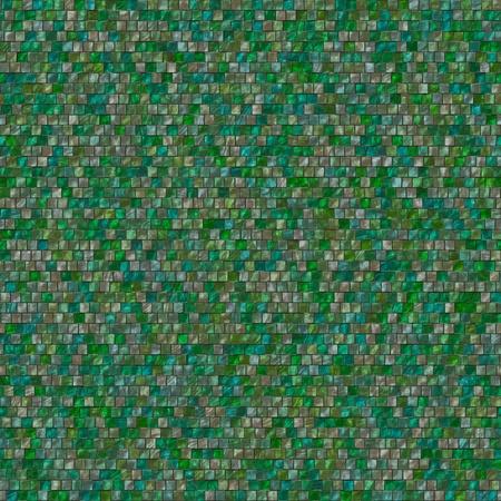 Seamless green wall tales Stock Photo - 13291534