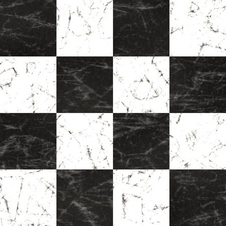 High quality seamless checkerboard marble floor tiling photo