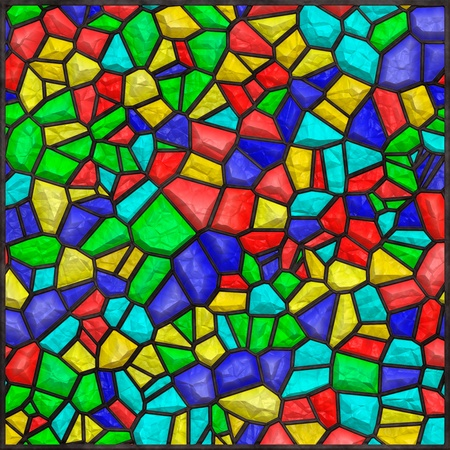 High quality seamless stained glass background photo