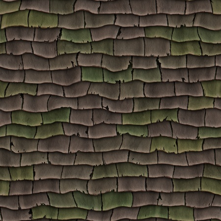 asphalt shingles: High quality seamless old roof shingles background Stock Photo