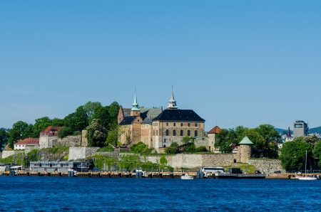 Ancient Akershus Fortress, Oslo, Norway photo