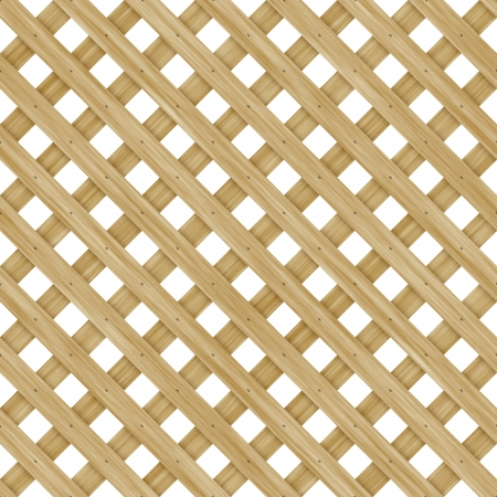 Seamless high quality high resolution wooden lattice on white background photo