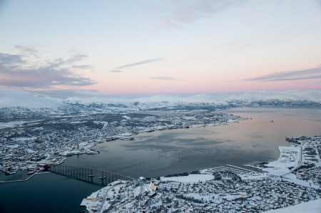 Panoramic view of Tromso, Norway photo