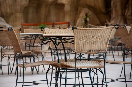 Table and chairs at the cafe Stock Photo - 14141485