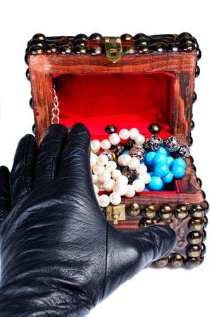 Jewelery robbery close up isolated photo