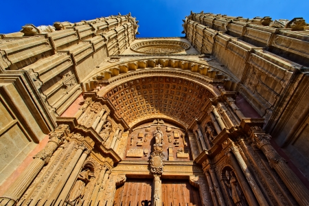 High quality picture of Cathedral at Palma de Majorca Stock Photo