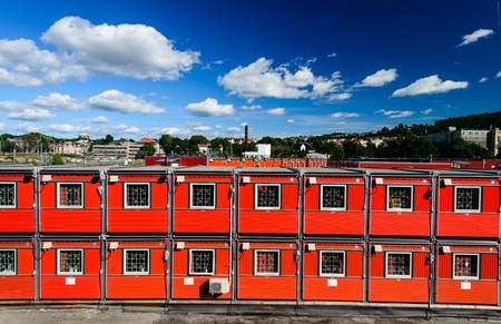 Cargo container houses in Oslo, Norway