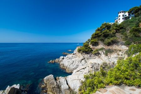 View on house on coast at Costa Brava photo