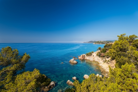 costa brava: Front de mer de Lloret de Mar Costa Brava Espagne