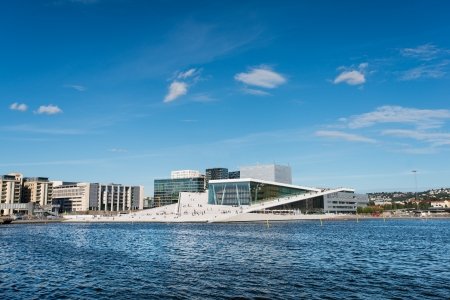 OSLO - AUGUST 11: Oslo Opera House on August 11, 2012 in Oslo, Norway. The Oslo Opera House is the home of The Norwegian National Opera and Ballet, and the National Opera Theatre.