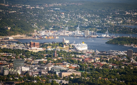 Panorama view of Oslo, Norway photo