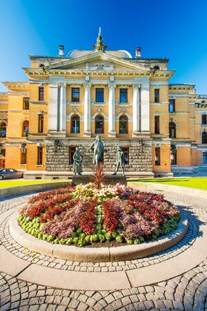 venues: OSLO, AUGUST 27: National Theatre in Oslo (Norwegian: Nationaltheatret) on August 27, 2012 is one of Norways largest and most prominent venues for performance of dramatic arts. Editorial