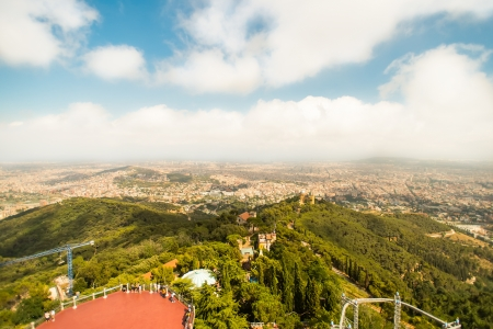 tibidabo: View of barcelona from Tibidabo, Barcelona, Spain