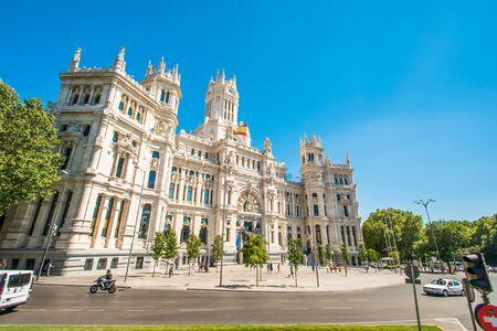 cibeles: Plaza de la Cibeles in Madrid, Spain