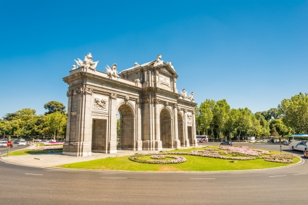 Puerta de Alcala (Alcala Gate) in Madrid, Spain