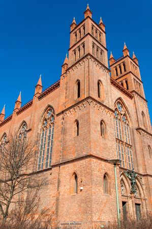 Red brick church in Berlin Germany photo