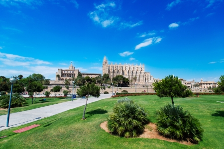 mallorca: Cathedral of Palma de Mallorca in Spain Stock Photo