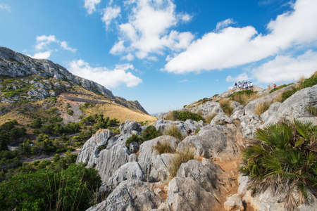 Tourists at Mallorca mountain, Spain Stock Photo - 16013255