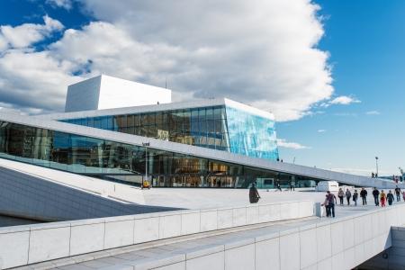 OSLO, NORWEGEN - 5. September: auf einer Seite der National Oper in Oslo anzeigen am 5. September 2012, die wurde am 12. April 2008 in Oslo, Norwegen eröffnet