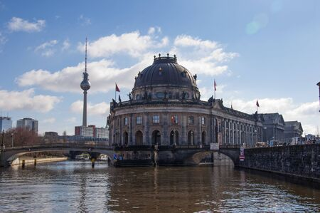 bode: Bode Museum on Museum Island with TV Tower in background, Berlin, Germany, Europe Editorial