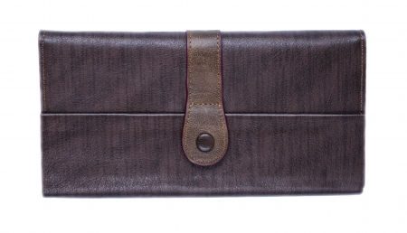 Brown leather style purse
