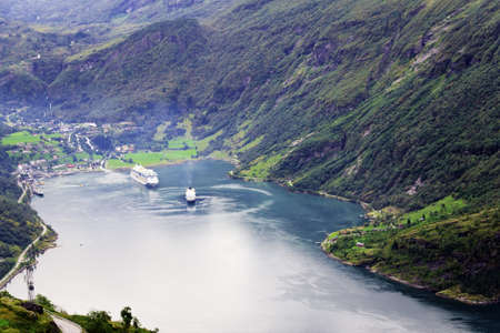 View on Geiranger Fjord, Norway photo