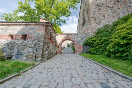 View on Akershus Fortress, Oslo, Norway photo