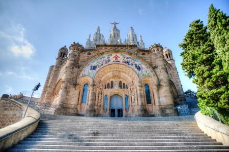 sagrat cor: The Temple del Sagrat Cor (Church of the Sacred Heart), Barcelona, Spain. HDR