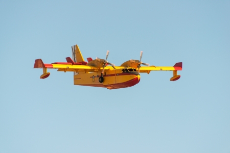 CL-415 water bomber is firefighter aeroplane Stock Photo - 16549275