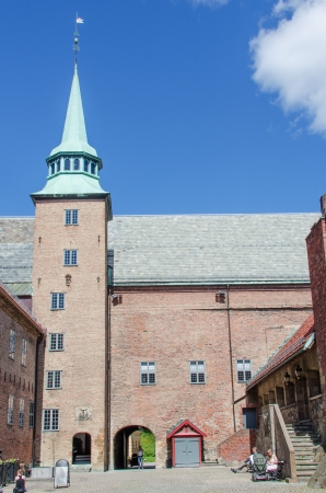 OSLO - JUNE 19: Akershus fortress. The first construction on the castle started around the late 1290s, by King Haakon V