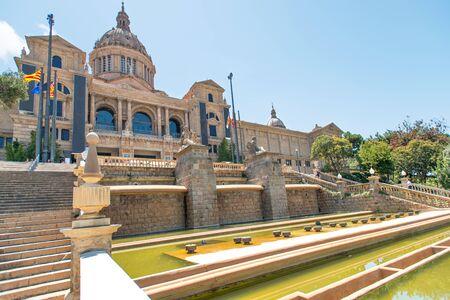 espanya: Placa De Espanya, the National Museum in Barcelona. Spain