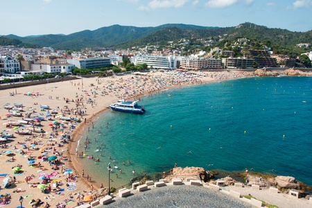 The famous bay of Village of Tossa de Mar, Costa Brava, Spain